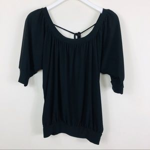 Wrapper Black Blouse Size Small